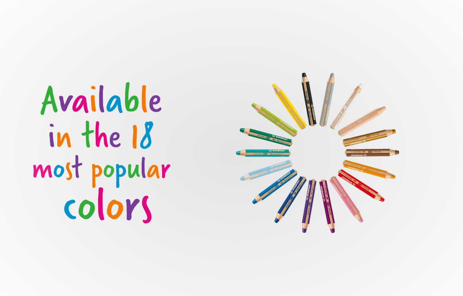 「水彩マルチ色鉛筆woody」色鉛筆、水彩色鉛筆、クレヨンの3つの機能